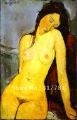 Art Museum oil painting reproduction: Seated Nude  , 1916 , Amedeo Modigliani