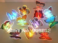 Free Shipping Hot Selling LED Colorful Gradient Night Light, Colorful Dynamic Butterfly Night Light 48pcs/lot