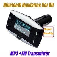FM Transmitter Car Kit MP3 Player LCD Vehicle Modulator Bluetooth USB SD Remote Free Express 10pcs/lot