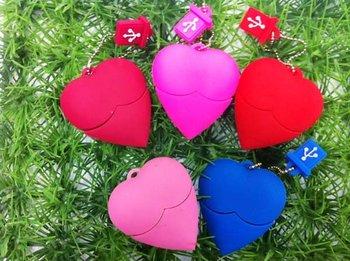 Best Selling FreeShpping Heart shape HOT pvc usb flash drive 2bg 4gb 8gb 16g usb flash memory,moq: 50pcs