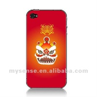 Mysense Newest PC case for iphone 4 4s Lion Dance wholesale and retail+OEM+fast shipping