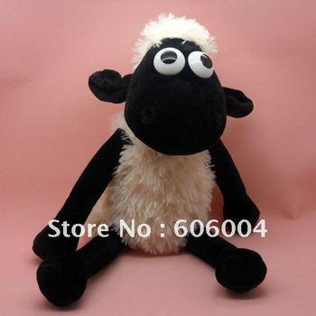 "Free shipping EMS 20/Lot Cute RARE Shaun The Sheep SITTING Plush Doll Toy 15"" Wholesale"