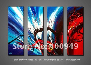 Framed Modern Oil Painting On Canvas  abstract wall deco Guaranteed 100% handmade Free shipping dbd2  High quality