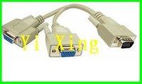 High quality VGA cable , 1 VGA Male to 2 VGA  Famale