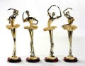Birthday gift housewarming gift Wedding Gift resin crafts Ballet of 4 / sets