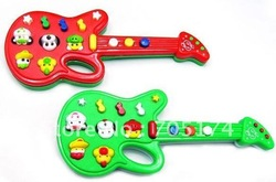 Retail Novel Electric guitar music toys Music instrument guitar electronic guitar toys with 12 kid's song(China (Mainland))