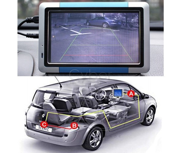 Night Vision Color Car Rear Camera View Reversing Backup freeshipping dropshipping