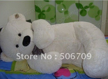 "6.56 FEET TEDDY BEAR STUFFED PLUSH SOFT BEIGE JUMBO 78"" PLUSH TOY FANTASTIC GIFT ! FAST & FREE SHIPPING"