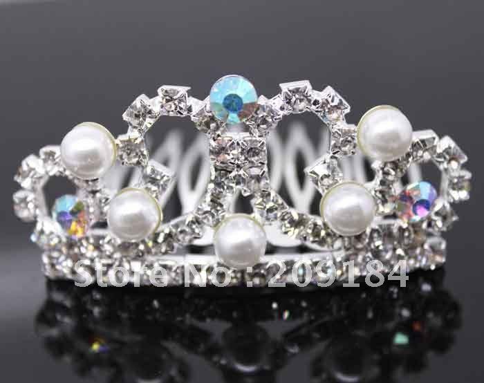 Heißer verkauf! Neue mode Braut mode haar-accessoire Royal Krone/tiara/braut kopfbedeckungen wzcr15(China (Mainland))