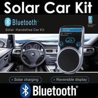 Bluetooth Car Kit Handsfree FM+MP3 Player LCD Display Solar Powered Express 5pcs/lot