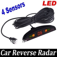 4 Parking Sensors LED Car Reverse Backup Radar Camera Kit Free Shipping + Drop Shipping