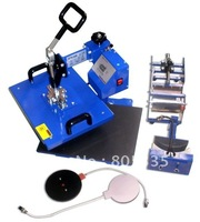 Free shipping heat press machine combo  5in1 28x38cm