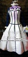 Anime Black Butler 2 Devil Demon housemaid ANNA satin Dress Cosplay Costume Freeshipping