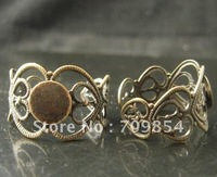 Free Ship!!! pad:8mm /adjustable  bronze tone plated  ring base /lead free nickel free