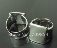 Free Ship!!! pad:17*19mm/adjustable silver tone plated  ring base /lead free nickel free
