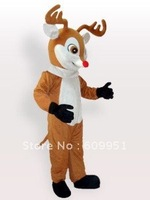Hot sale! mascot costumes Yellow Reindeer Plush  for sale Animal carnival costume Halloween Dress kids party free shipping