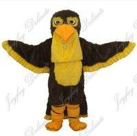Black eagle hawk goshawk adult size mascot costume free shipping