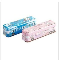 Manufacturers selling pencil case iron three small bus pencil box capable pencil case