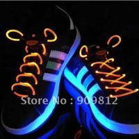 Free Shipping LED light shoelaces, Flashing Hip-hop Fluorescent shoelaces, ( 2pcs/pair )