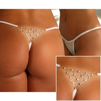 Beauty online New Sexy Mash Underwear Lingerie G-string white LC7543