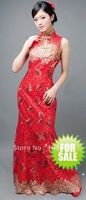 Wedding dress evening dress / sequined lace wedding dress Qipao improved models( 6020)