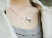 05# Favorite Vintage HOT!! Leaf Foliage Pendant Necklace