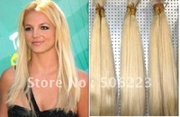 "20"" 24"" 32"" #613 lightest blonde Hair Bulk virgin extensions MICRO BRAIDING 1kg/lot"
