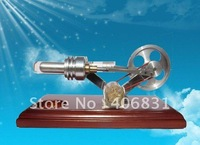 2012 the most novel model NEW HOT AIR STIRLING ENGINE ELECTRICITY/POWER GENERATOR FUNNY TOY WITH 4 LEDs