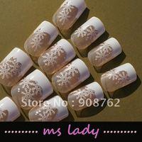 Nail false nails for girl fashion nail tips 24pcs/set free shipping HK airmail