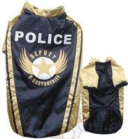 large dog military coat big dog winter clothes padding coat police design for golden retriever 22-30 black red