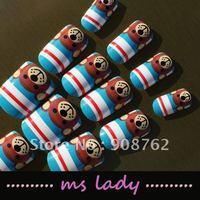 Nail Style Lady Fashion Woman 24pcs/set false nails for girl fashion nail tips 2012 free shipping HK airmail