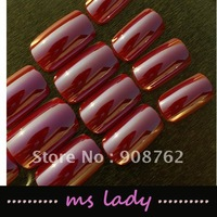 Nail false 24pcs/set fake nails for girl fashion nail tips 2012 free shipping HK airmail