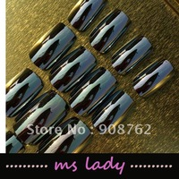 Nail art 24pcs/set false nails for girl fashion nail tips 2012 free shipping HK airmail