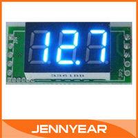 """Вольтметр 20 PCS/LOT 0.36"""" Yellow LED Digital Voltage Panel Meter DC Digital Voltage For Car Moto And DIY etc #090776"""