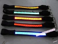 Free shipping 50PCS LED Reflective Arm/Leg Band Strap Bicycle Running,LED Reflective Safety Velcro Arm Band