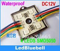 Free Shipping Waterproof SMD RGB LED Module 4pcs 5050 SMD LED DC12V + 44key Controller  [ LedBluebell ]