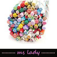 Free shipping nail art decorations 50pcs/lot fruit canes nail beauty nail art HK airmail
