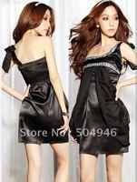Hot sales,2012 Gorgeous satin princess dress shoulder straps ,one-shoulder dresses,lady's dress,KMYBF1078,