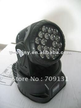 Free Shipping RGB 18PCS * 3W LED Mini Moving Head