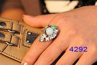 Artificial Pearl Alloy Finger Ring Wedding Ring Colorful  20pcs Mixed Lot  Free Shipping