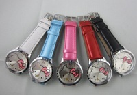 Free Shipping 100PCS High Quality Hello kitty Fashion Cute Lovely Girl woman lady Wrist Watches A426