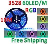 RGB 10M 16FT Waterproof 3528 SMD Strip 600 LED IR Remote Christmas Tree Light NEW