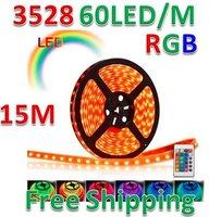 RGB 15M 16FT Waterproof 3528 SMD Strip 900 LED IR Remote Christmas Tree Light NEW