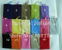 16pcs/lot Soft Velvet Pouch Case Bag For iPhone ipod Pouch Case Bag For iPhone 4 3GS/3G iPod