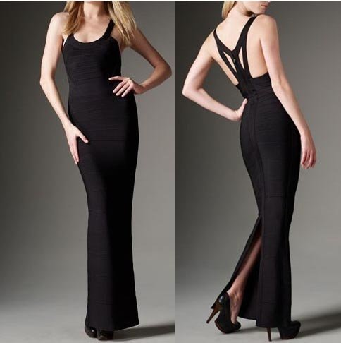 Long Sleeved Black Dress on Hl Celebrity Women Evening Dresses Cocktail Party Bandage Dress Hl1451