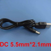 USB male to DC5.5mm*2.1mm DC plug connector 5V Power Supply Plug cable