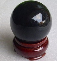 obsidian crystal ball 80 mm + stand