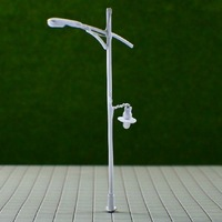 Model materials, single-head model street 8.5cm brass lamps fine-mode model T32 about 1:100 free shipping