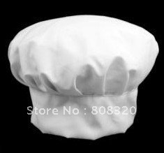 Freeshipping!!! 50pcs Party Baker BBQ Hotel Kitchen Catering White Chef Hat(China (Mainland))