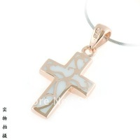 Free shipping good qtuality wholesale  925 sterling silver cross charm pendant